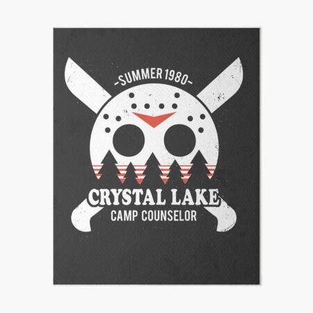 Camp Crystal Lake Counselor Art Board Print