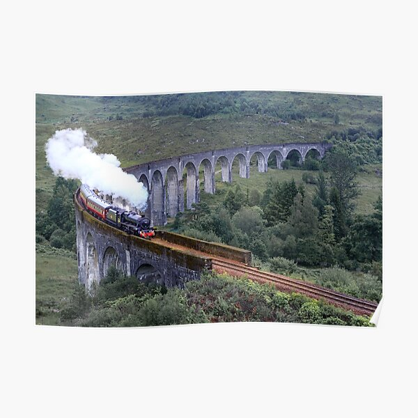 Steam Engine on the Glenfinnan viaduct Poster