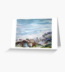 Gulf Coast Waves n; Rocks Greeting Card