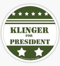 For President Klinger Sticker