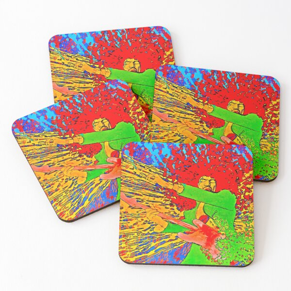 60s Rock Psychedelic Painting Poster Coasters (Set of 4)