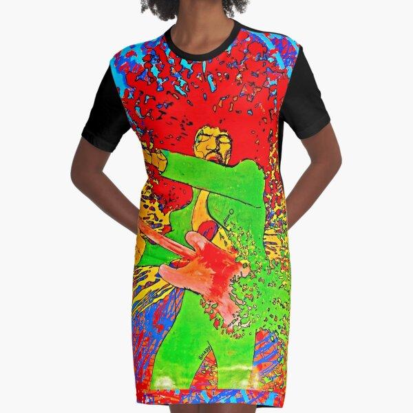 Affiche de peinture psychédélique rock des années 60 Robe t-shirt