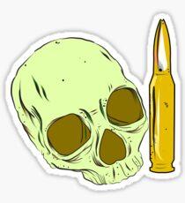 Skull 'n' bullet Sticker