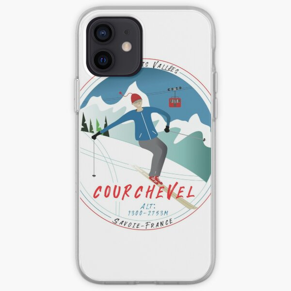 Skiing Courchevel  iPhone Soft Case