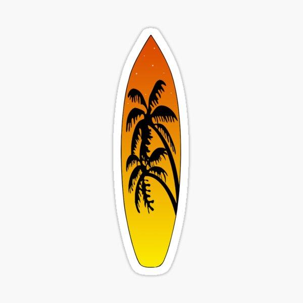 Surfboard Palm Trees (Sunset) Sticker