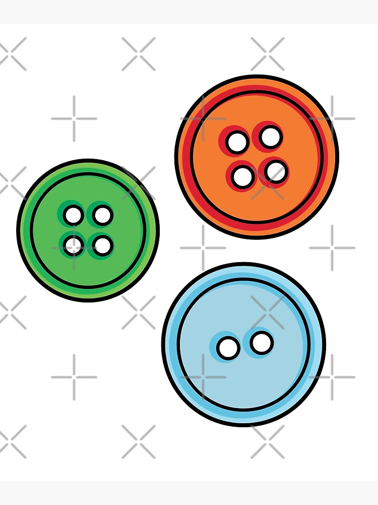 three multicoloured buttons by duxpavlic