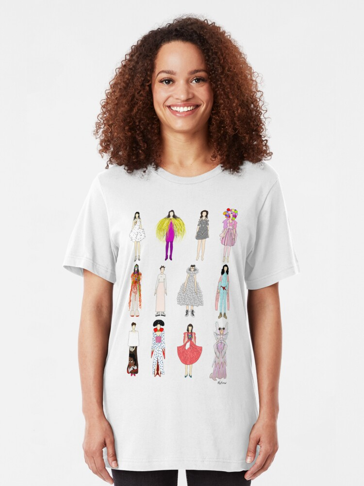 Alternate view of Outfits of Bjork Fashion Slim Fit T-Shirt