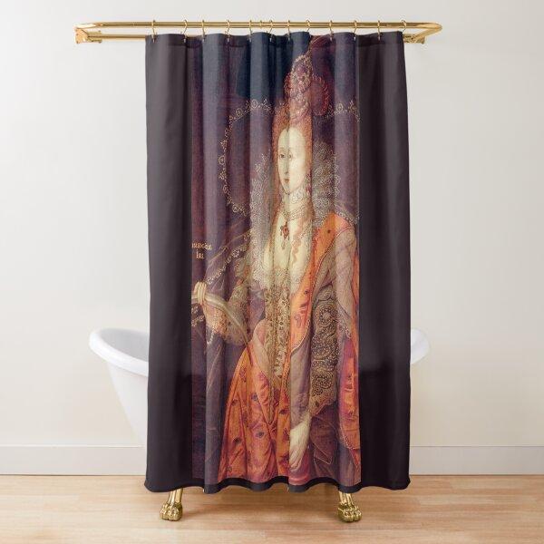 La reina Isabel I de Inglaterra. Por Darnley. Cortina de ducha