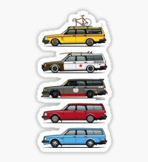 Stack of Volvo 200 Series 245 Wagons Sticker