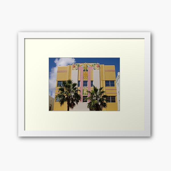 Geometric Miami South Beach Art Deco Building Facade Framed Art Print