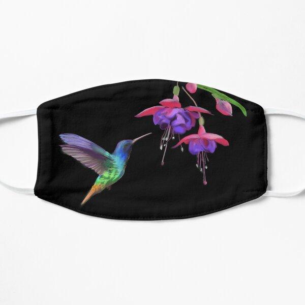 Hummingbird and Fucshia  Flat Mask