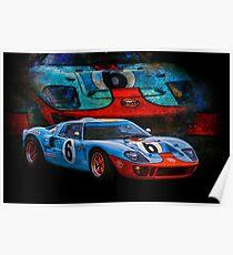 Gulf GT40 2 Poster