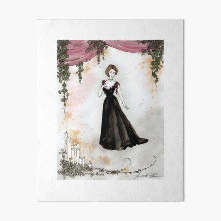 1890s Gown Art Board Print