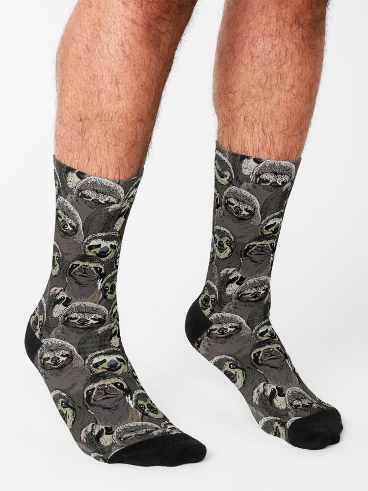 Alternate view of Social Sloths Socks