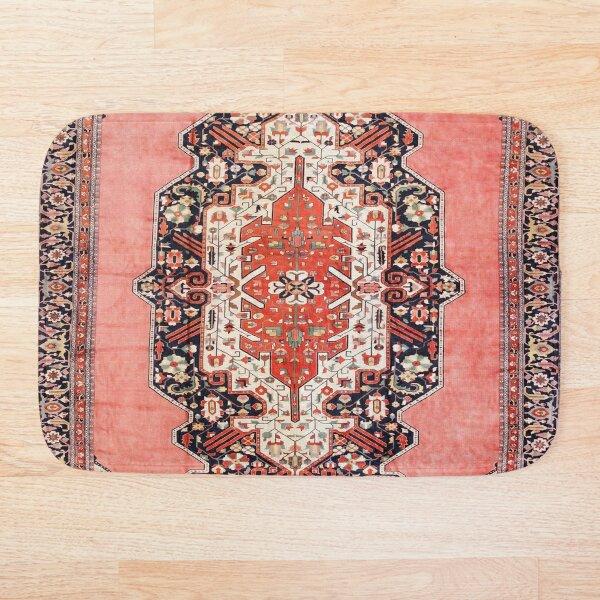 Silk Heriz Antique Persian Rug Print Bath Mat
