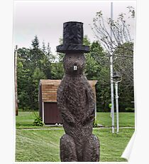 Groundhog statue Poster