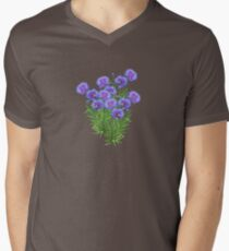 FLORAL ~ Cornflowers with Bees by tasmanianartist Mens V-Neck T-Shirt