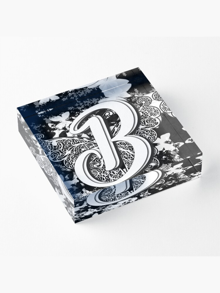 Alternate view of The Letter B: Decorative Monogram Single Initial Acrylic Block