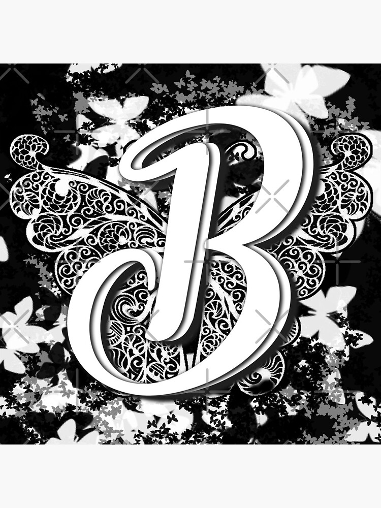 The Letter B: Decorative Monogram Single Initial by bowiebydesign
