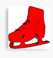ice skate flourish Canvas Print