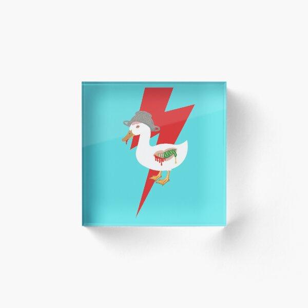 Zombie Duck, always weaponized! Acrylic Block