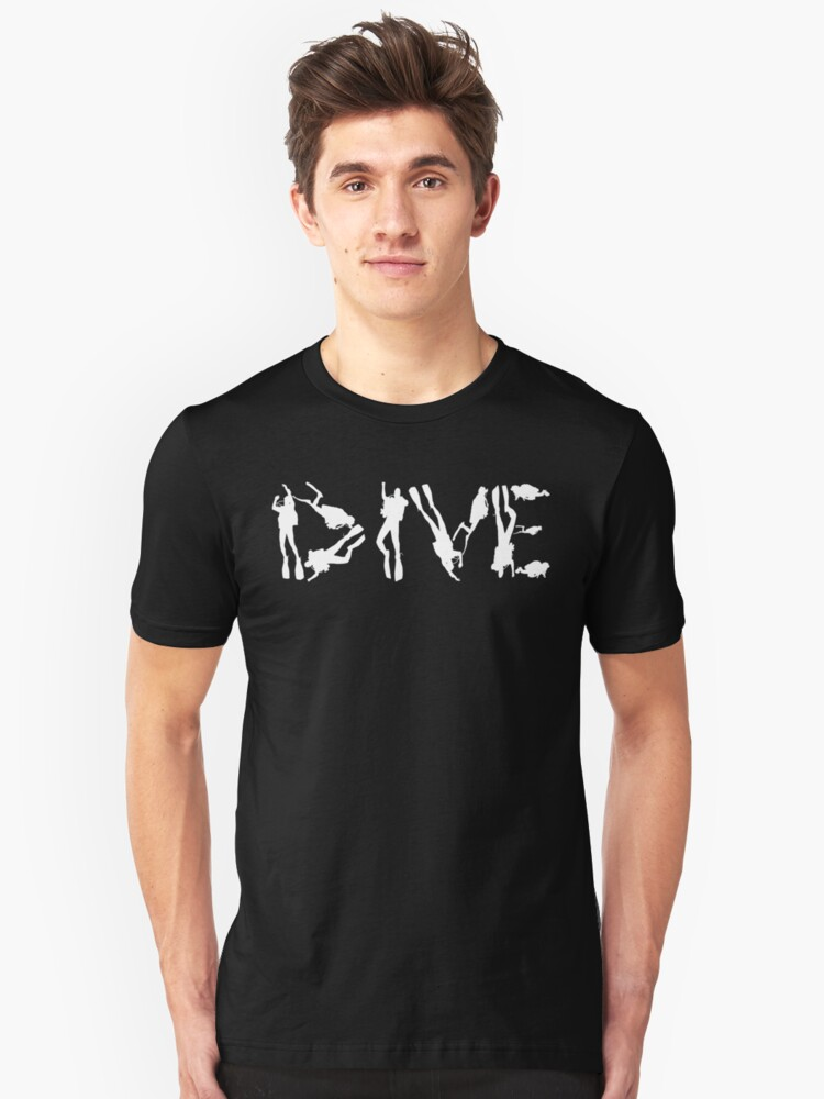 DIVE WITH DIVERS IN WHITE Unisex T-Shirt Front