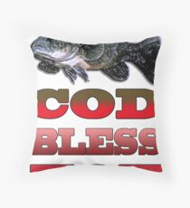 Cod Bless You Throw Pillow