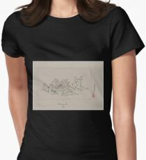 Playing go 001 Women's Fitted T-Shirt
