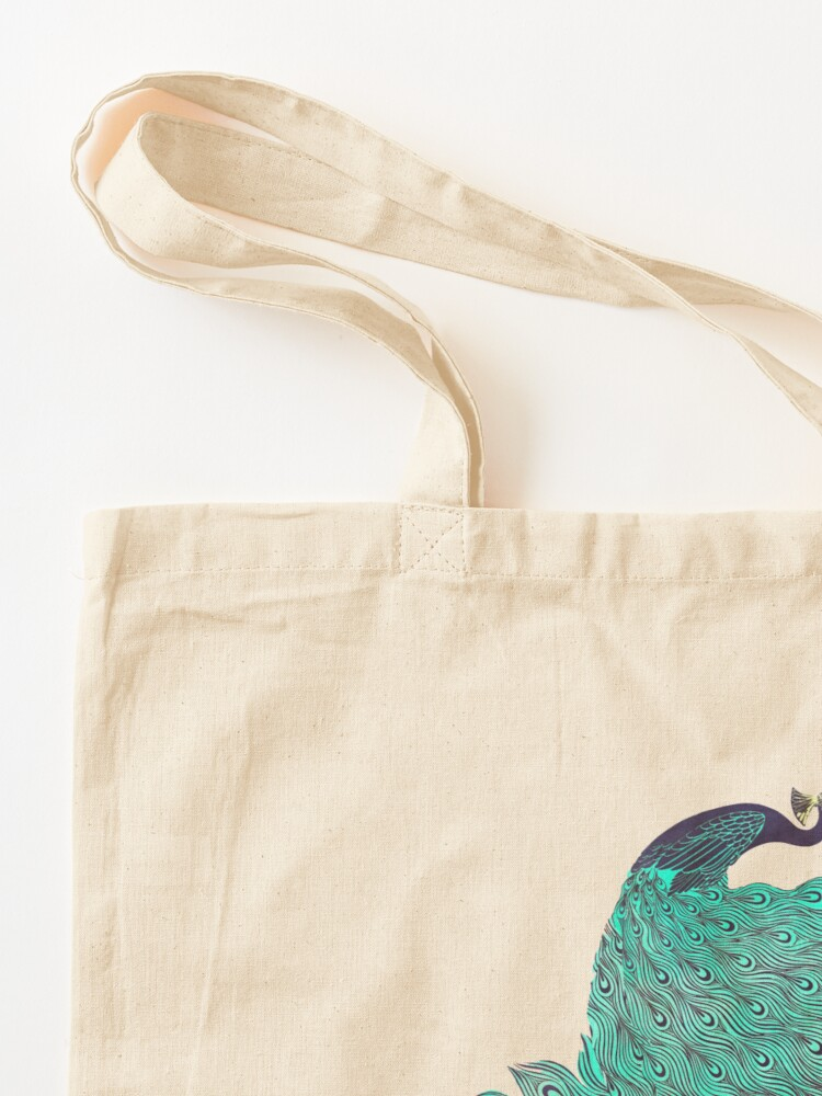 Alternate view of A very, very peacock Tote Bag