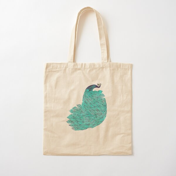 A very, very peacock Cotton Tote Bag