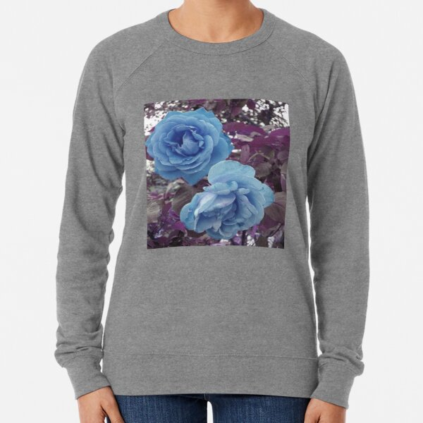 Copy of TWO ROSES  BLUE AND PURPLE MODERN AND  VERY ROMANTIC Lightweight Sweatshirt