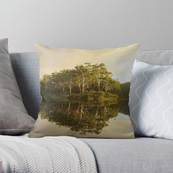 Reflections - Parramatt Lake Throw Pillow
