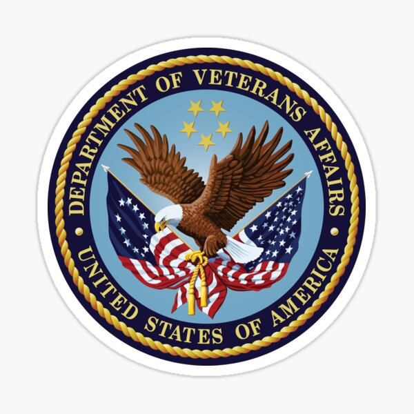 Veterans Affairs seal. US, USA, America. Sticker