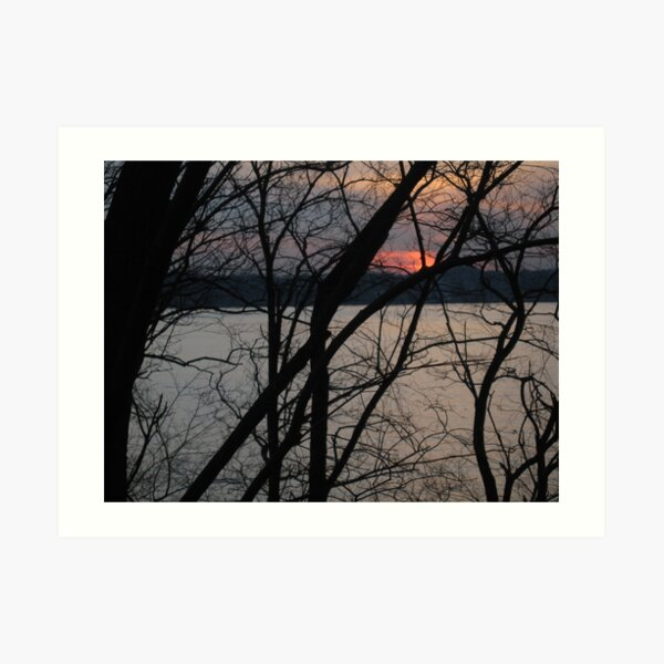 Sunset, Evening Art Print