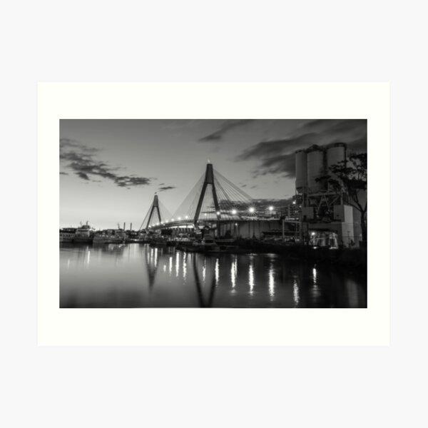 Anzac Bridge - B & W Art Print