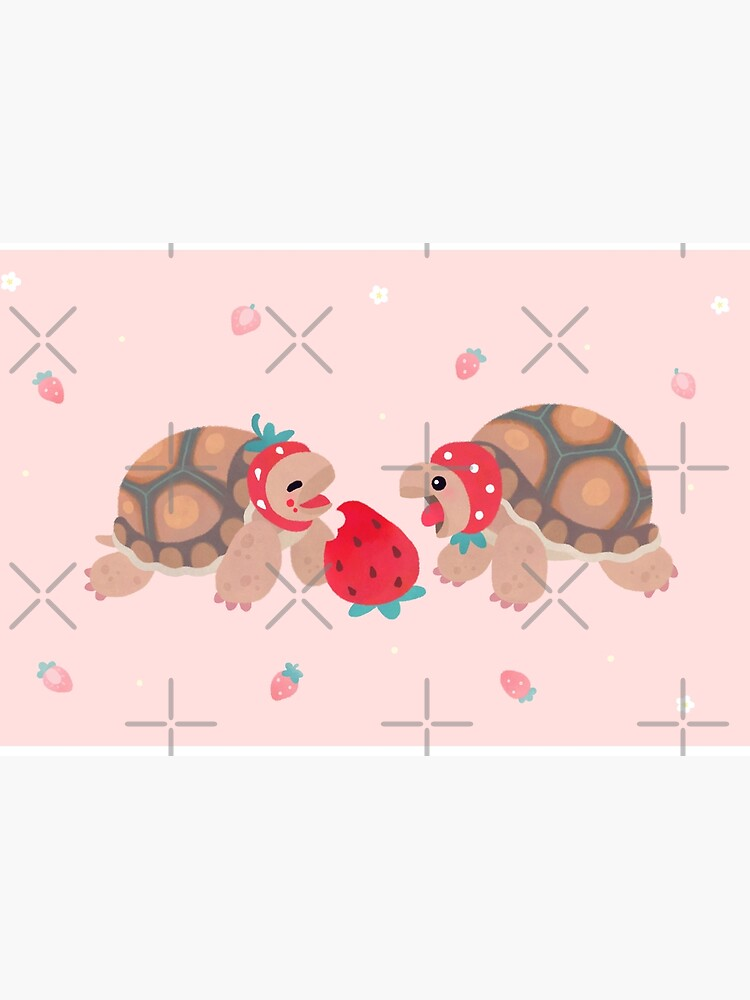 Tortoises love strawberries by pikaole