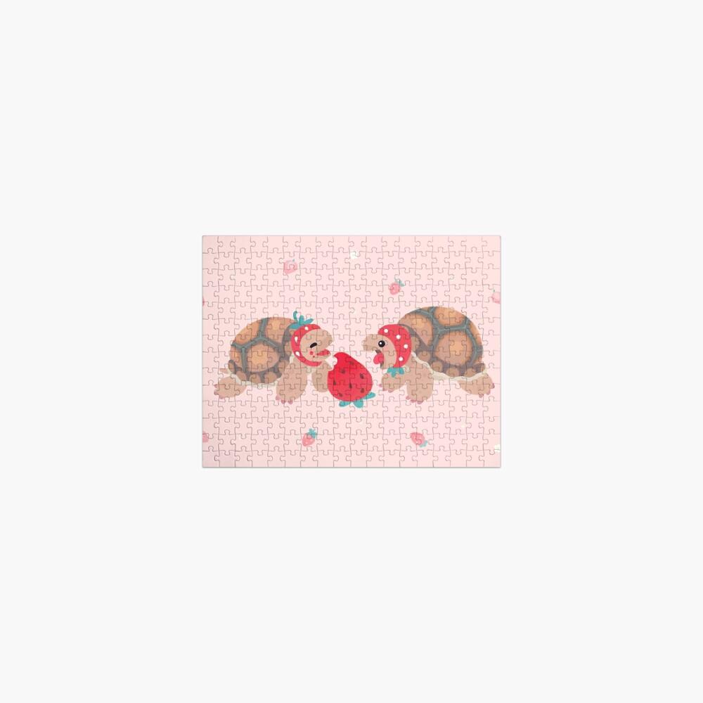 Tortoises love strawberries Jigsaw Puzzle