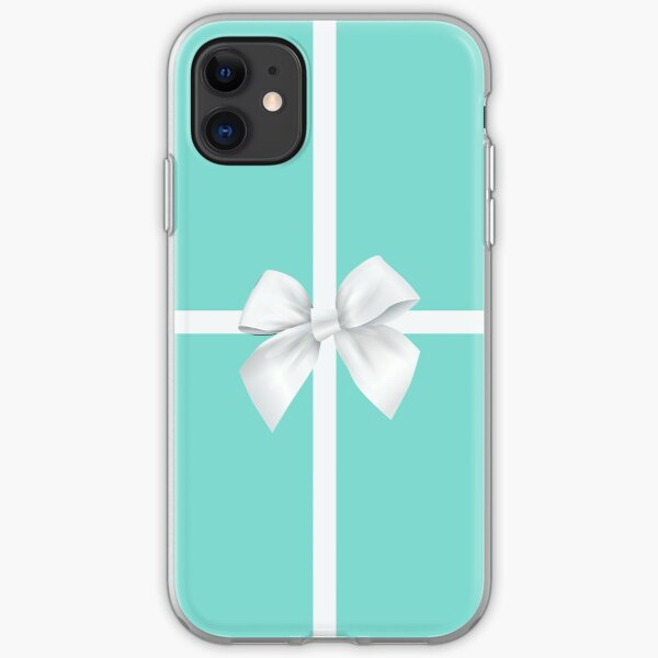 Blue Gift Box White Bow iPhone Soft Case