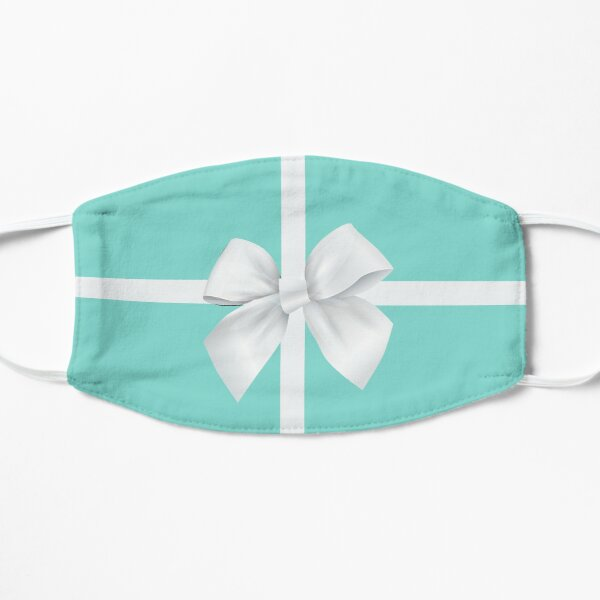 Blue Gift Box White Bow Mask