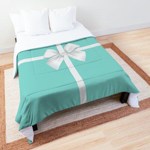 Blue Gift Box White Bow Comforter