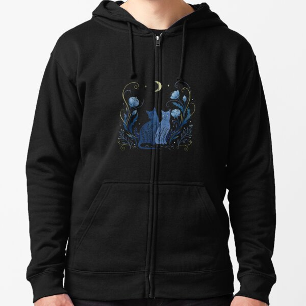 Two Cats Zipped Hoodie