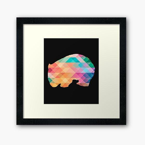 Wombat Abstract Pattern Framed Art Print