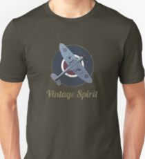 RAF Fighter Vintage Spirit Spitfire Logo Graphic T-Shirt