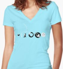 Party Popper Terrorist Women's Fitted V-Neck T-Shirt