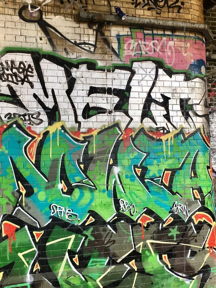 Contemporary Urban Graffiti under Southwark Railway Bridge London by billingtonpix