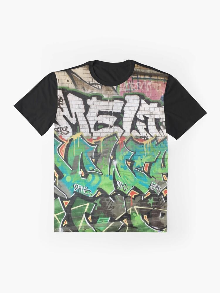 Alternate view of Contemporary Urban Graffiti under Southwark Railway Bridge London Graphic T-Shirt