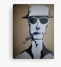 Fear and Loathing Stencil Metal Print