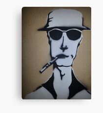 Fear and Loathing Stencil Canvas Print