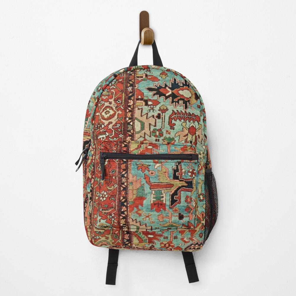 Antique Heriz Persian Carpet Print Backpack