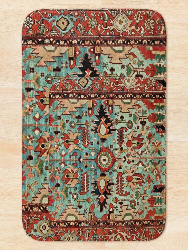 Alternate view of Antique Heriz Persian Carpet Print Bath Mat